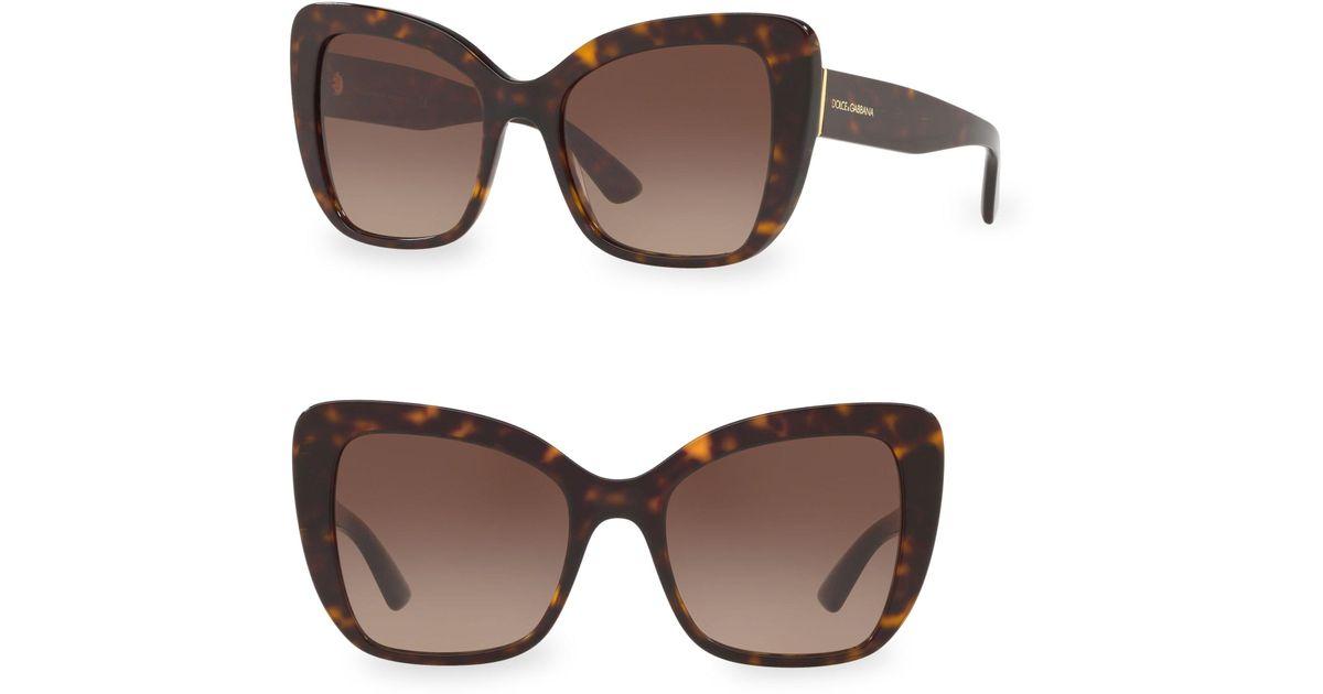 e9ccfde1a82a Lyst - Dolce   Gabbana 4348 Butterfly Sunglasses in Brown
