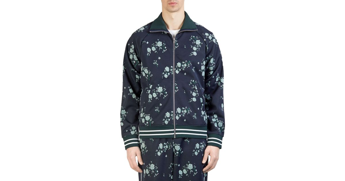 8f2f4961c1e93 KENZO Cheongsam Flower Jacket in Blue for Men - Save 3% - Lyst