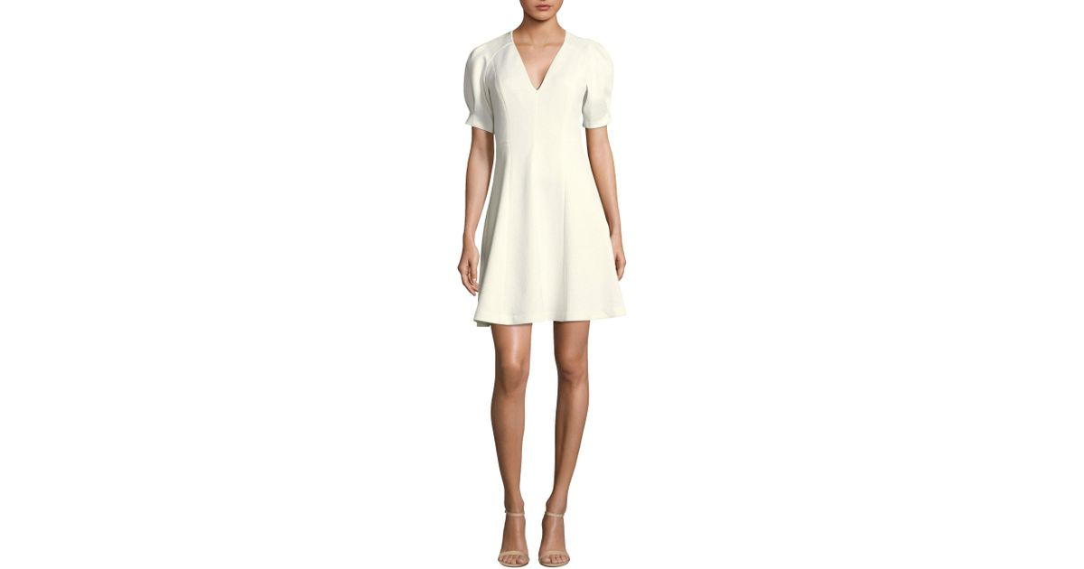 7b5ed7be215 Lyst - Rebecca Taylor Stretch Textured Dress in White - Save 25%