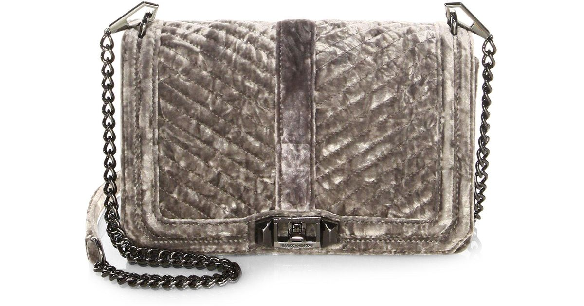 Lyst Rebecca Minkoff Chevron Quilted Love Crushed Velvet