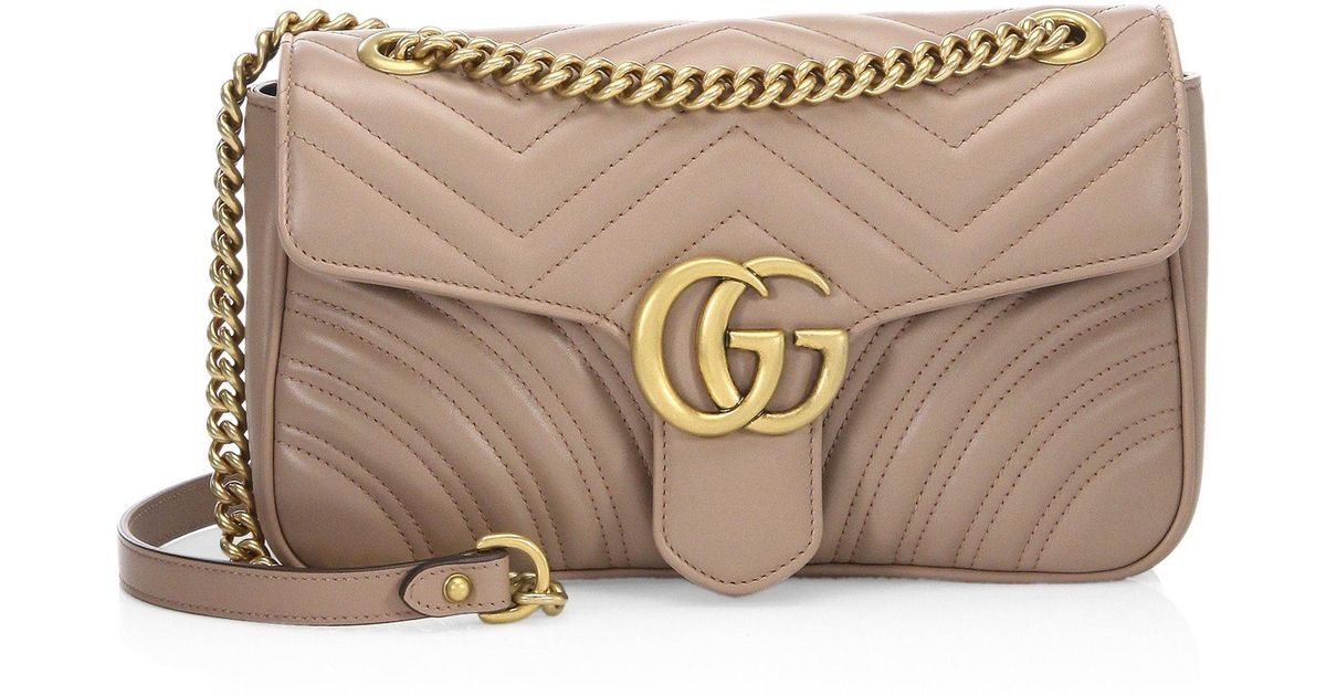 062648ba05906a Gucci Gg Marmont Small Quilted Leather Shoulder Bag - Lyst