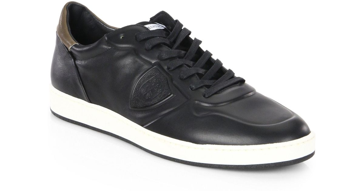 Philippe model Lakers Leather Low-Top Sneakers KbK1L6RBK7
