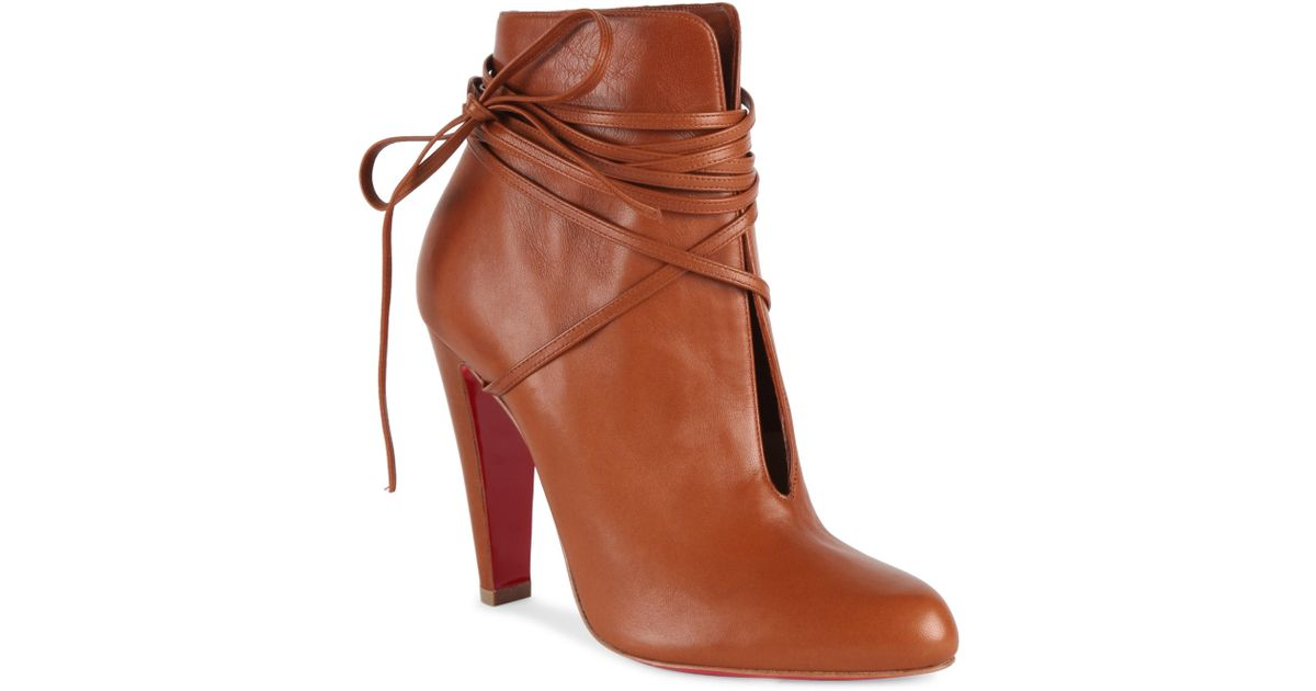 17ef3247812e Lyst - Christian Louboutin S.i.t. Rain 100 Leather Booties in Brown