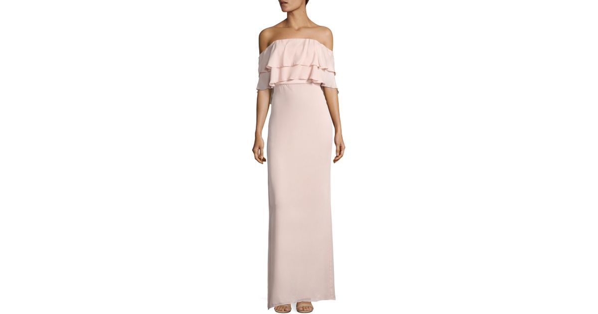 2699c9f2cbb Parker Black Helen Off-the-shoulder Silk Gown in Pink - Lyst