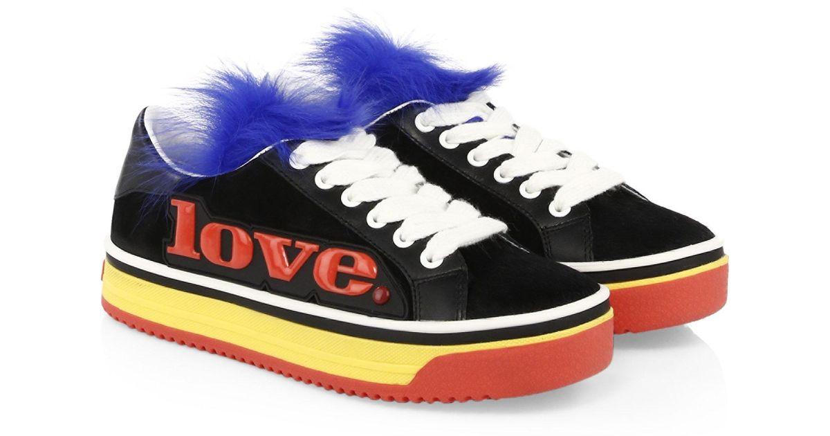 Marc JacobsLove Empire Fur Sneaker bCC5ah9Jb