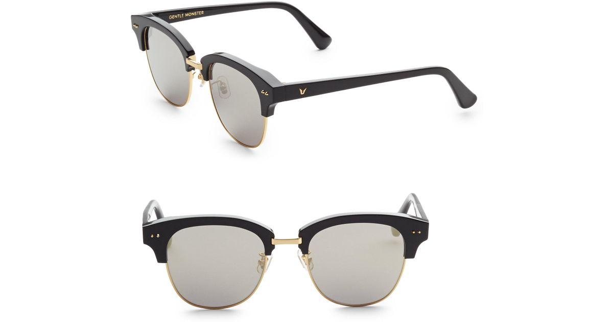 95ad33a31261 Lyst - Gentle Monster Second Boss Clubmaster Sunglasses in Metallic for Men