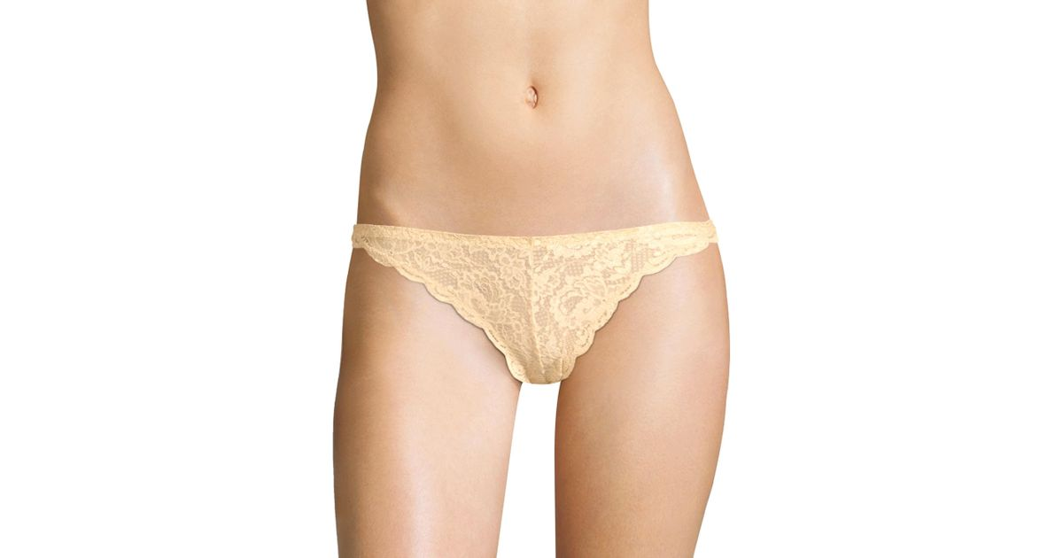5d1274d02bec Lyst - Cosabella Women's Never Say Never Lace High Leg Bikini Panty - Blush  - Size Medium in Natural