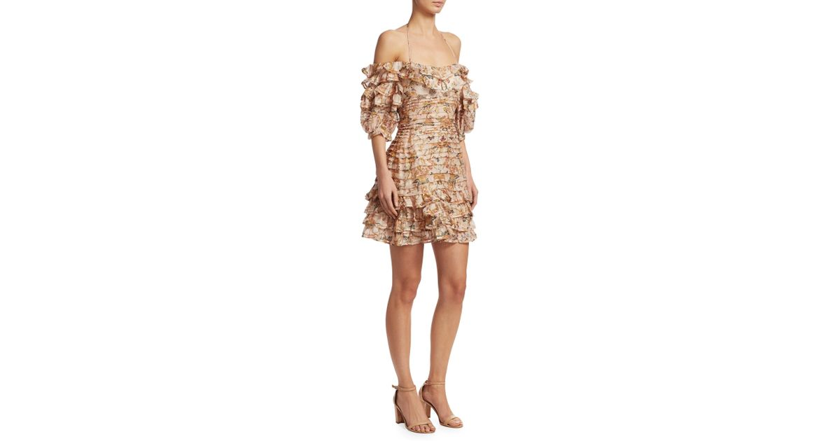a42aff8ae5f7d Zimmermann Natural Floral Bandage Dress