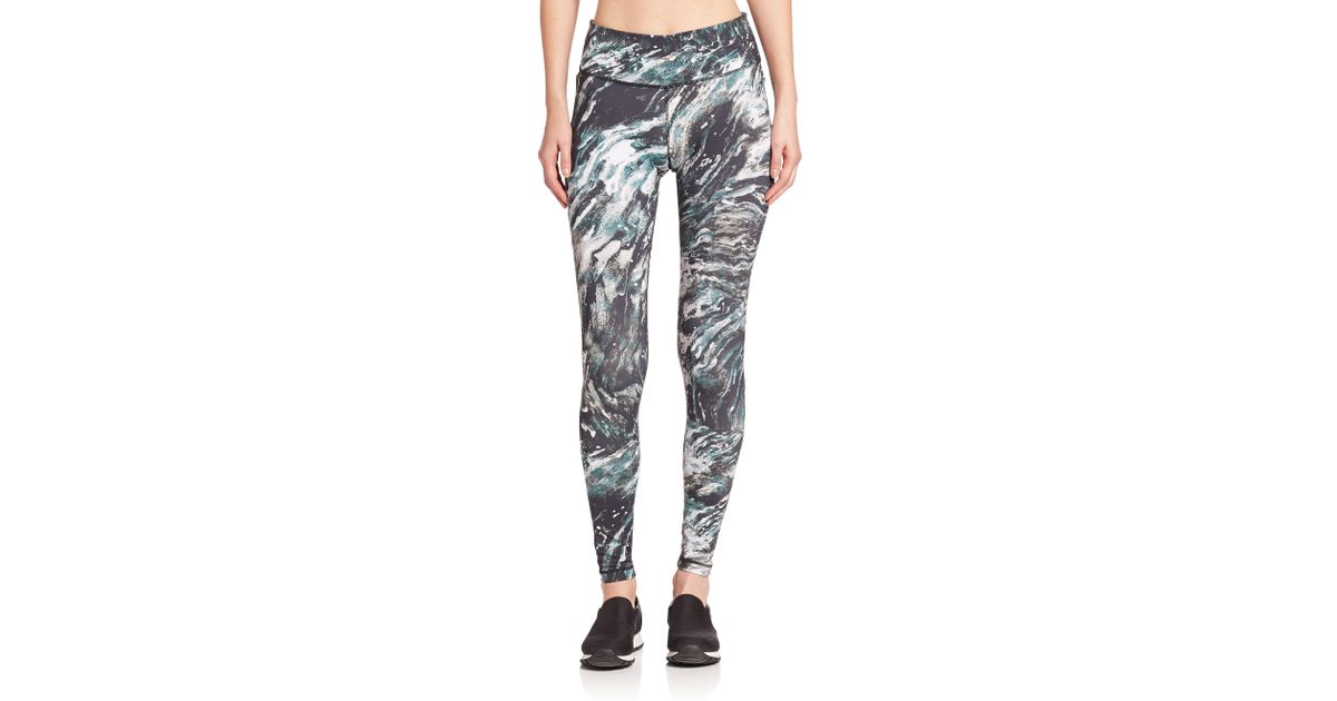 fc9b4c9f8670e5 Lyst - Vimmia Printed Core Leggings in Black