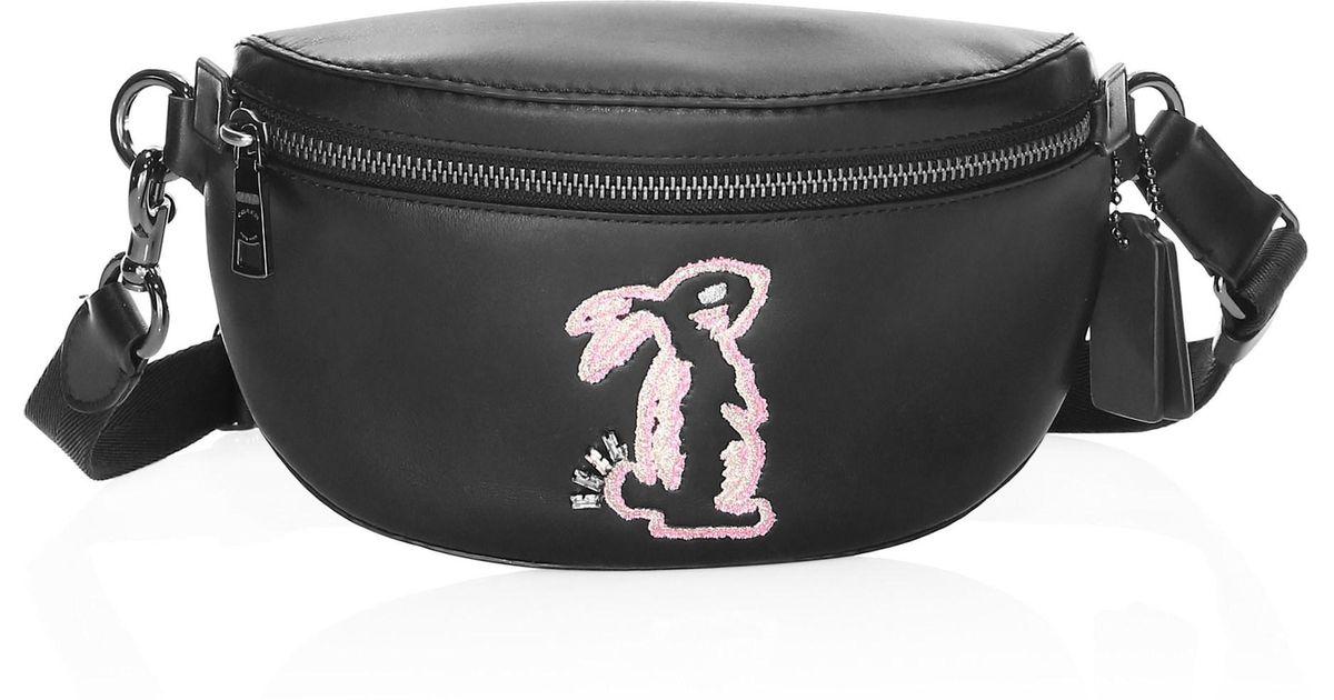 31e4f77a COACH Black X Selena Gomez Bunny Belt Bag