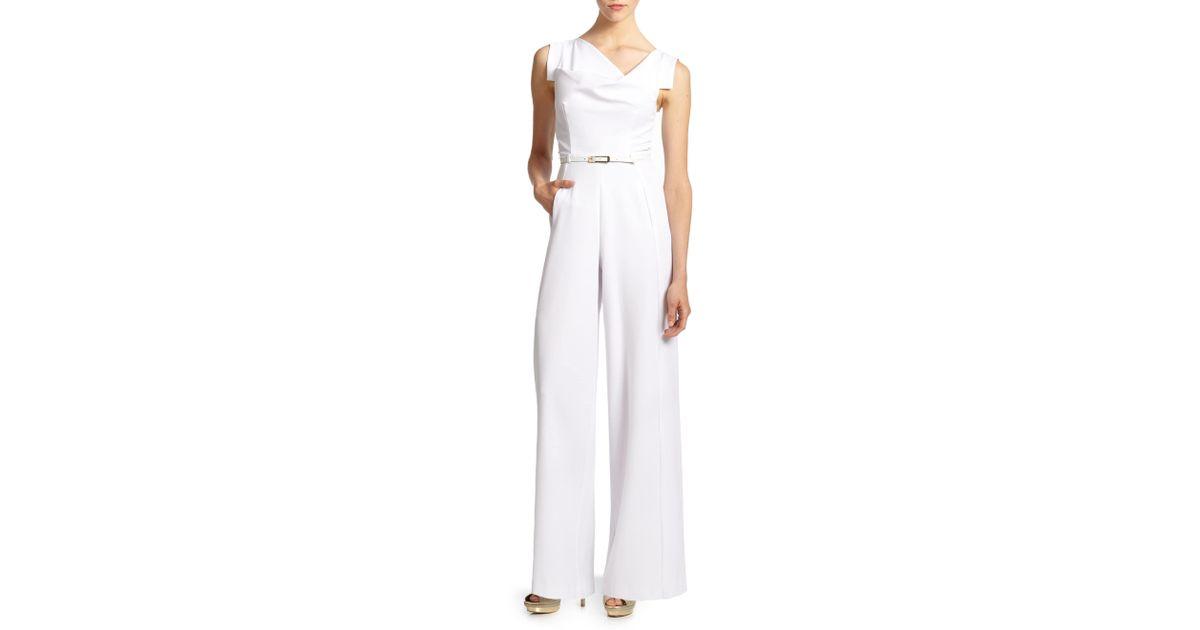 4ce7d3edd929 Lyst - Black Halo Women s Jackie O Jumpsuit - Black - Size 4 in White