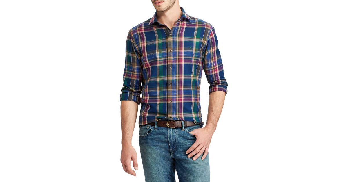 Lyst Polo Ralph Lauren Twill Plaid Cotton Casual Button