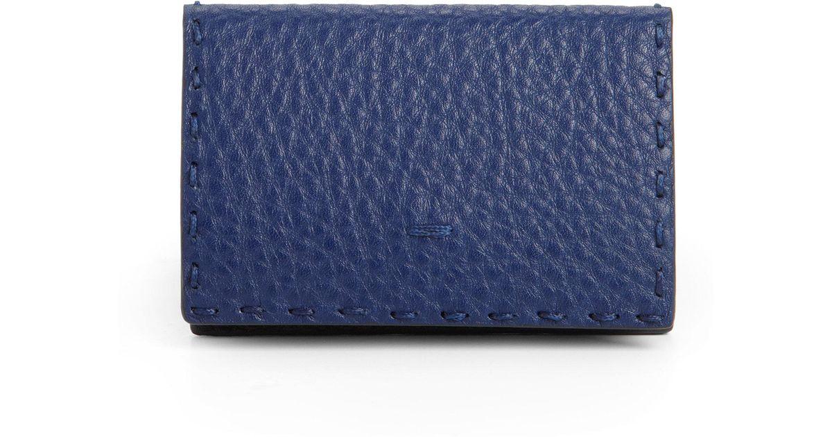 Lyst - Fendi Business Card Holder in Blue for Men