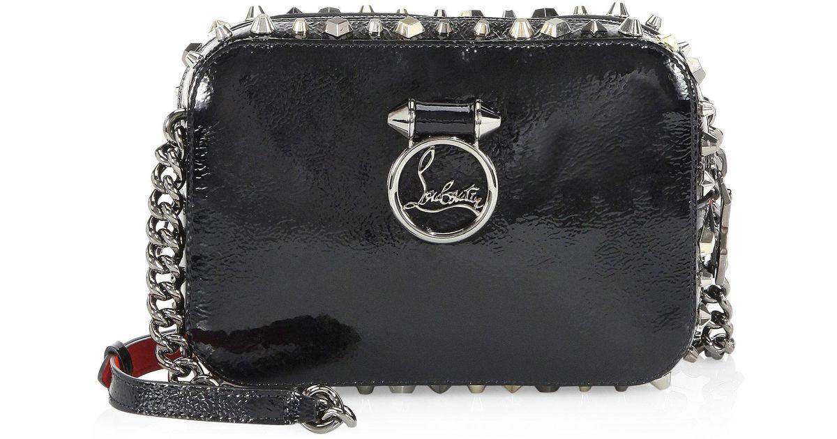 4adefe85749 Christian Louboutin Black Rubylou Vintage Trashmix Patent Leather Mini  Crossbody Bag
