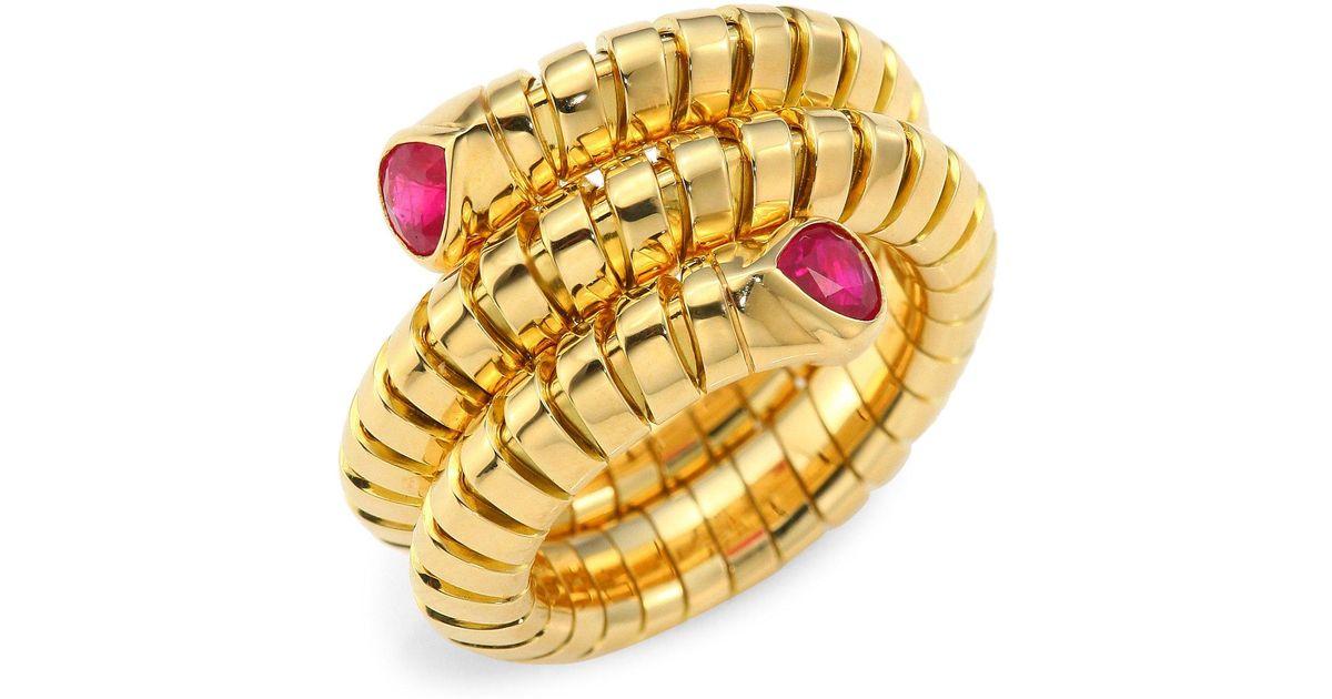 Marina B Trisola 18k Yellow Gold Diamond Coil Ring PszU1c