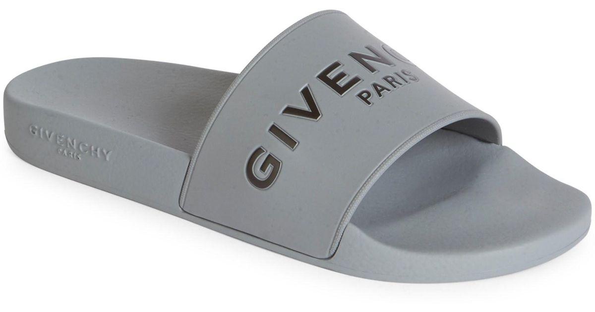 f7f1bd87cb1 Lyst - Givenchy Men s Logo Rubber Slides - Black - Size 47 (14) Sandals in  Gray for Men