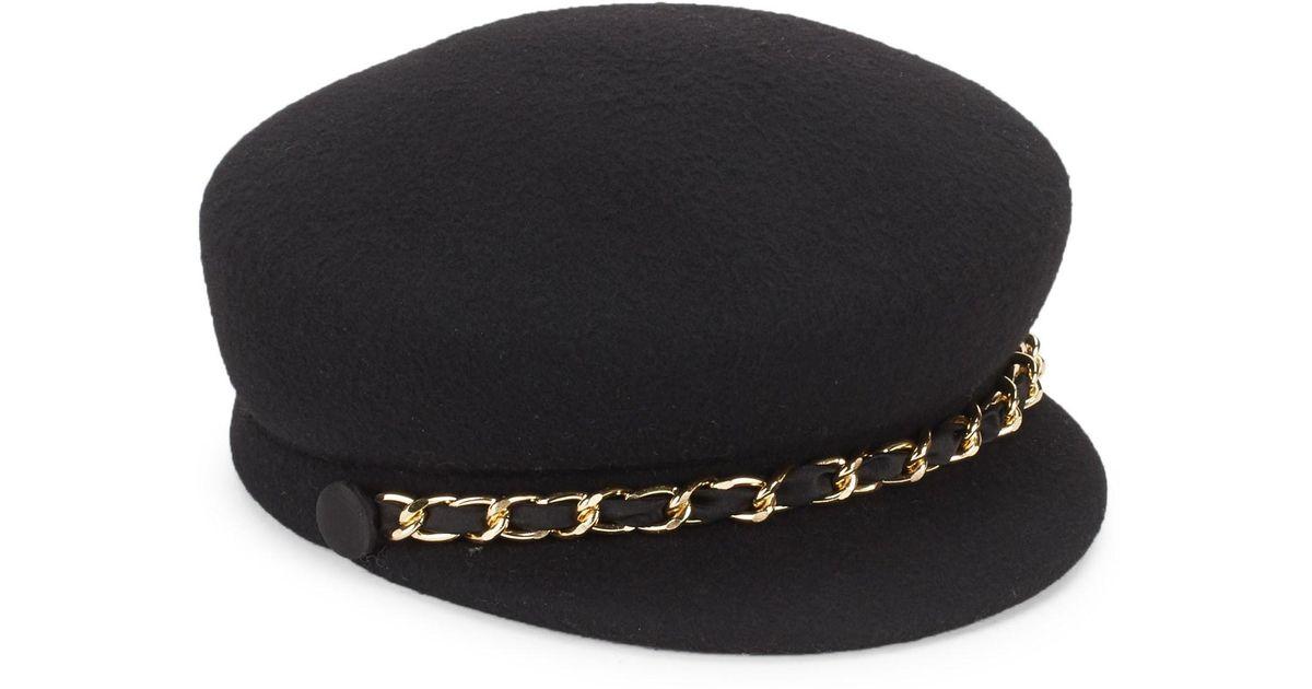 43dd443f579 Lyst - Eugenia Kim Sabrina Fisherman Chain Hat in Black
