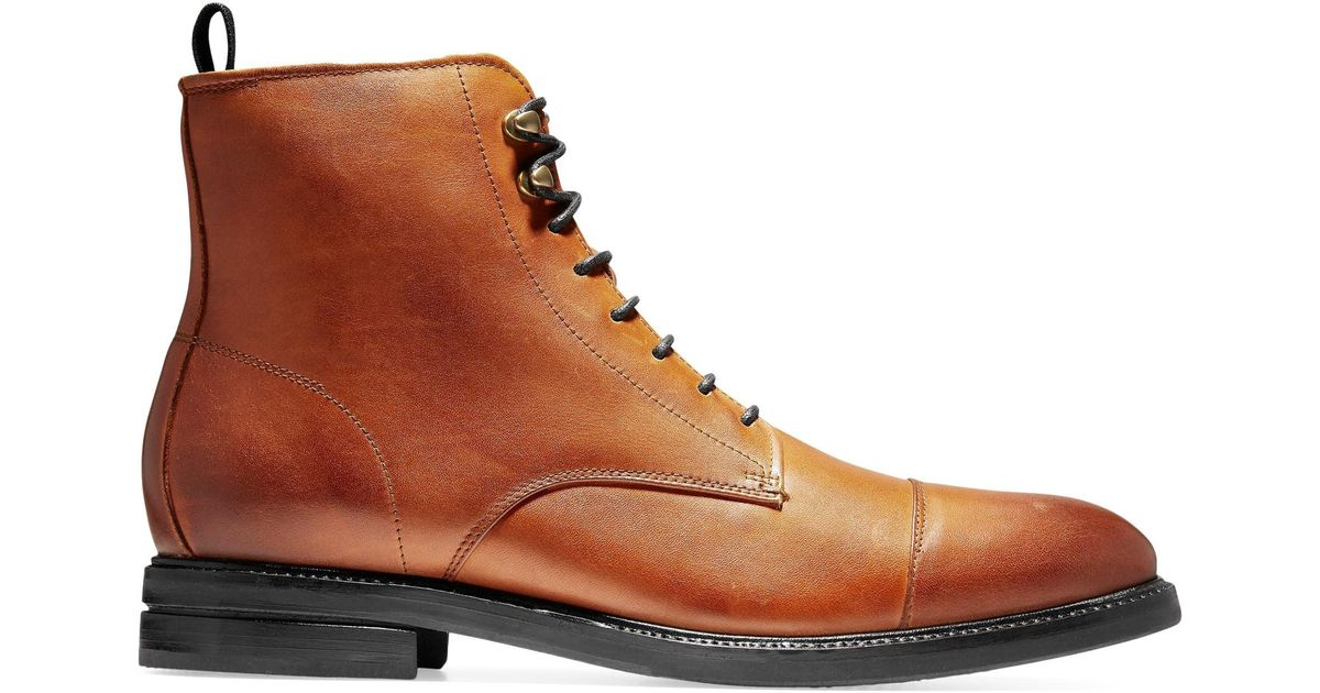 attractive price strong packing online Cole Haan Men's Wagner Grand Cap Toe Boots - Brown for men