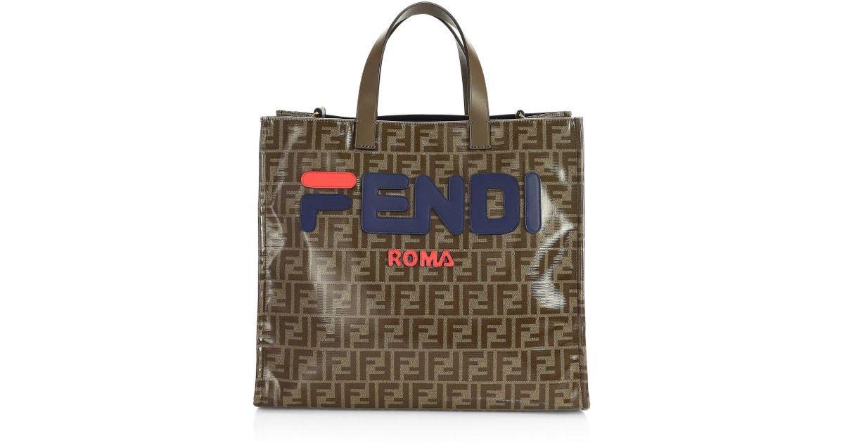 9136955a Fendi Brown Mania Shopper Bag