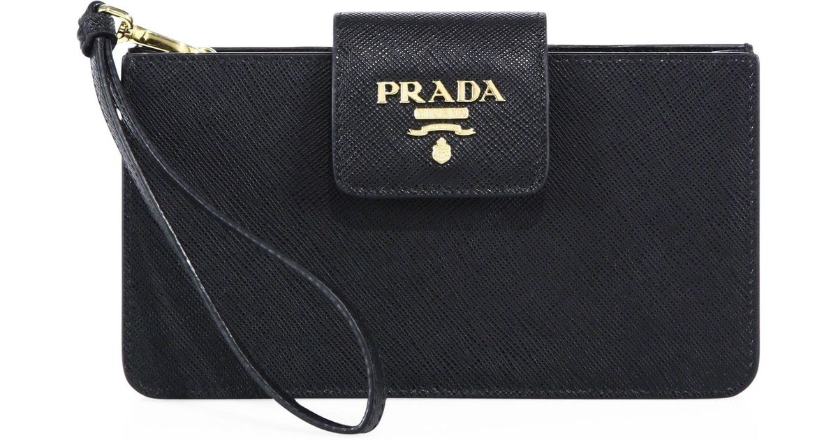 new arrival 4c73b 5657a Prada Black Leather Iphone 6 Wallet