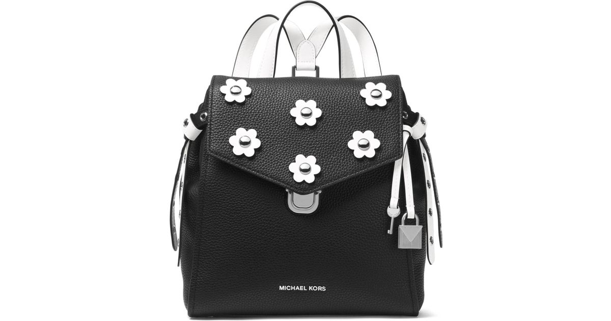 f3ded5bb8c1ce Lyst - Michael Michael Kors Bristol Small Leather Backpack in Black
