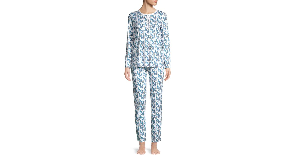 4ab6efd5333c Roberta Roller Rabbit Kath Pajama Set in Blue - Lyst