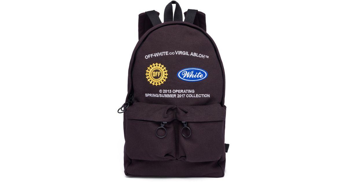 9979e7fc833a Lyst - Off-White c o Virgil Abloh Work Backpack in Black for Men