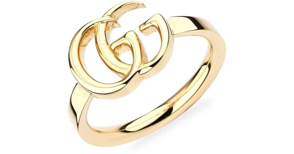 0d9e7528bbd7f Gucci Metallic 18k Yellow Gold 13mm GG Running Ring