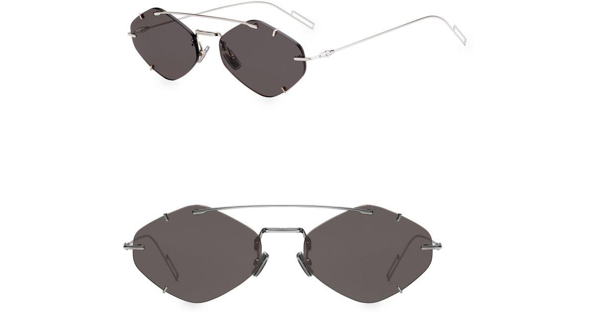 6c0ca676361c Dior Homme Inclusion 57mm Diamond Sunglasses for Men - Lyst