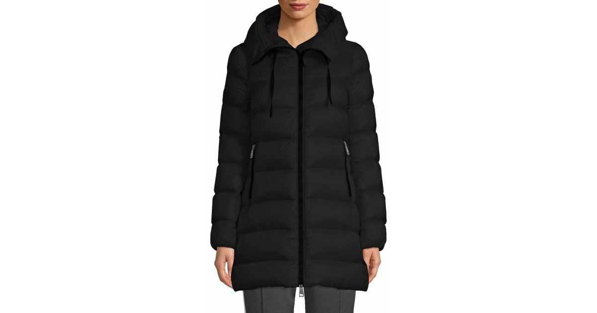 90b75bdba Moncler Black Suyen Legere A-line Hooded Coat