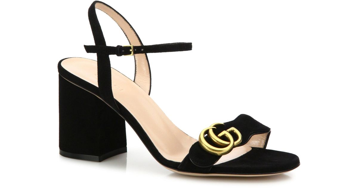 e767c234dc4 Lyst - Gucci Gg Marmont Sandal in Black