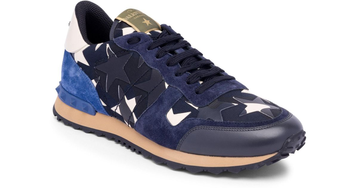Valentino Star Rock Running Shoes In Blue For Men Lyst