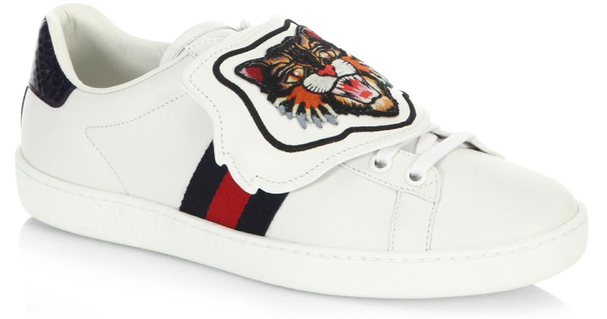 Gucci Leather New Ace Lion Patch