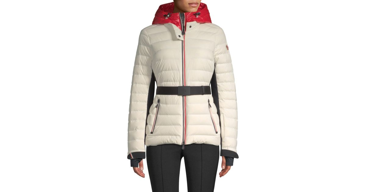 6c48f39b4 Moncler Natural Bruche French Flag Puffer Jacket
