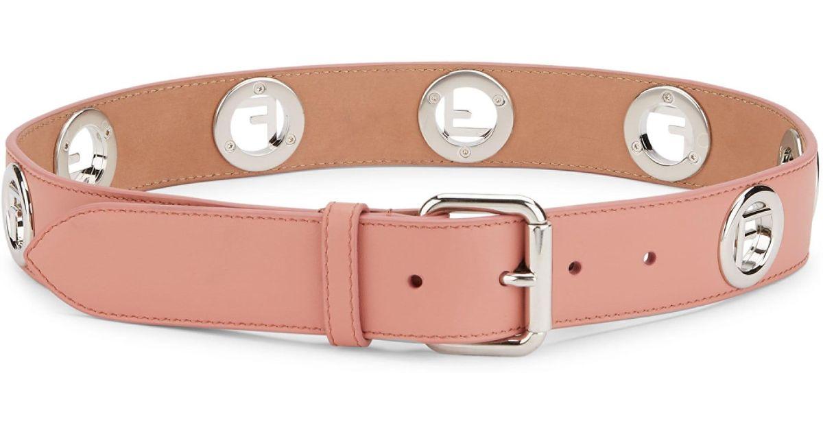 94daaac9 Fendi - Multicolor Women's Logo Leather Belt - Macaroon - Size Xxs (28
