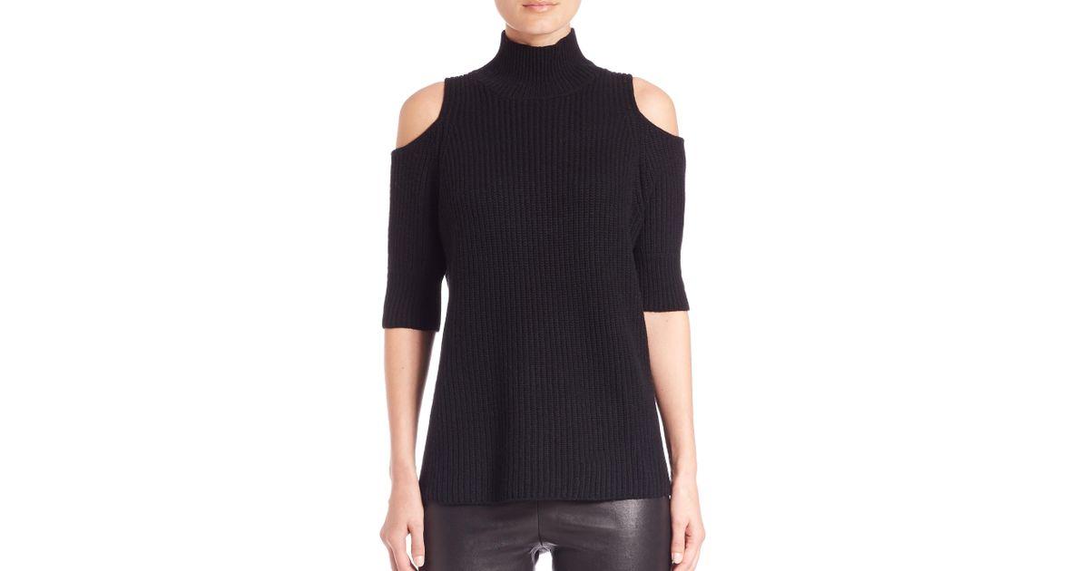 422b8c32dd Zoe Jordan Knitlab Gondola Cold-shoulder Turtleneck Sweater in Black - Lyst