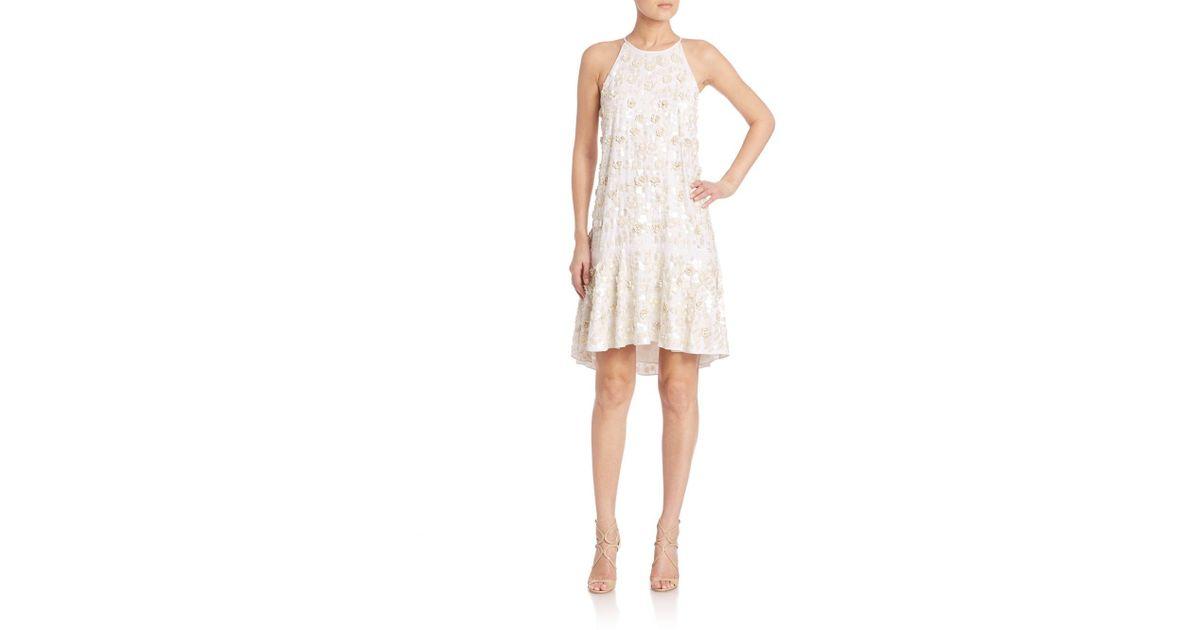 882241fda6c Lyst - Diane von Furstenberg Kera Embellished Dress in White