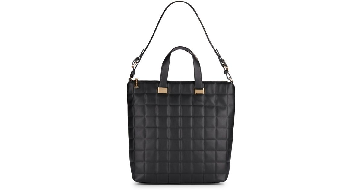 4e6c24100471a Steve Madden Black Bree Quilted Tote