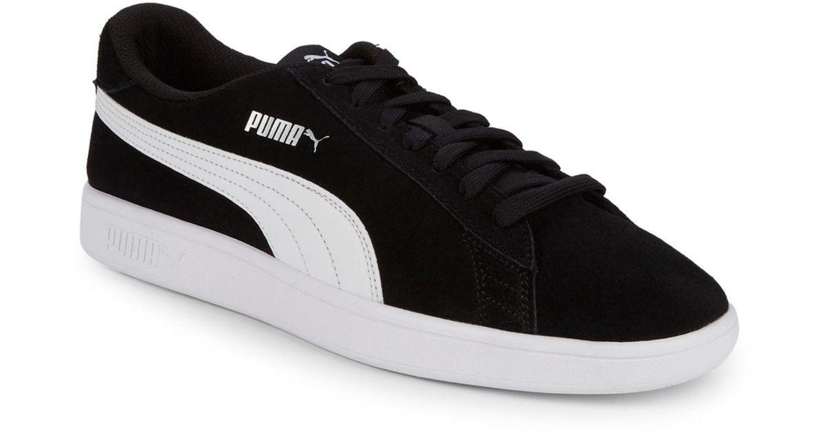 PUMA Smash V2 Suede Trainers in Black