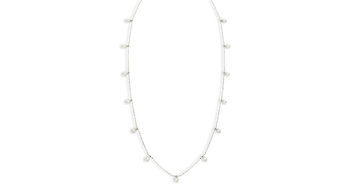 ec55bcfb59e4d Artisan 18k White Gold & Hanging Diamond Single-strand Necklace