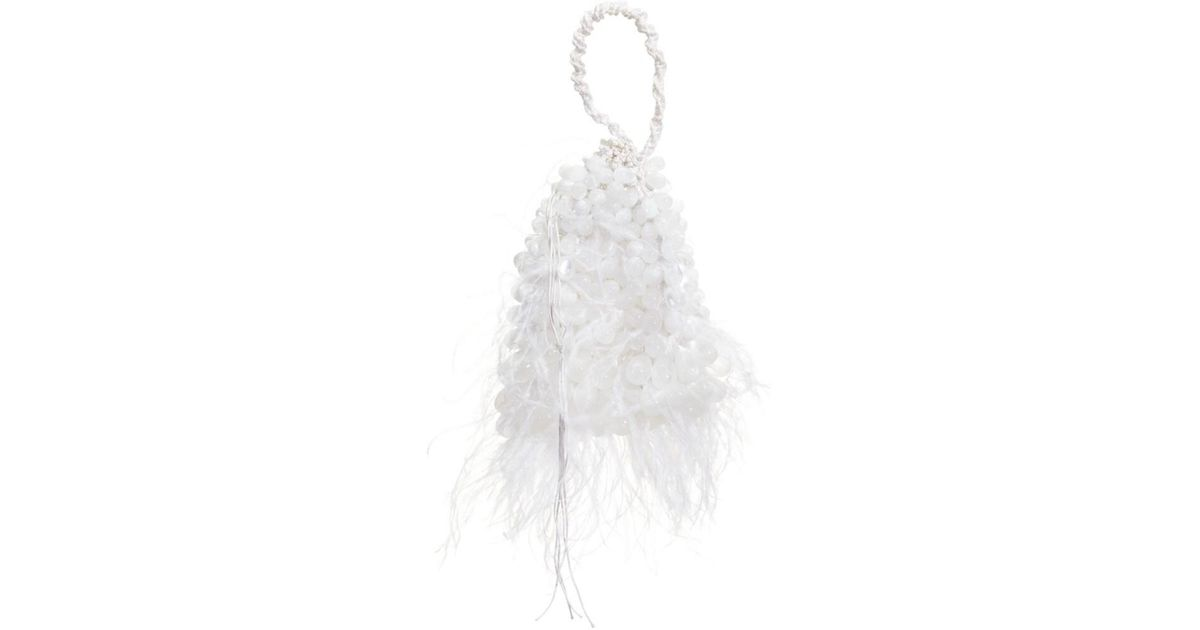 Luscious Lavender Ostich Feather Evening Bag