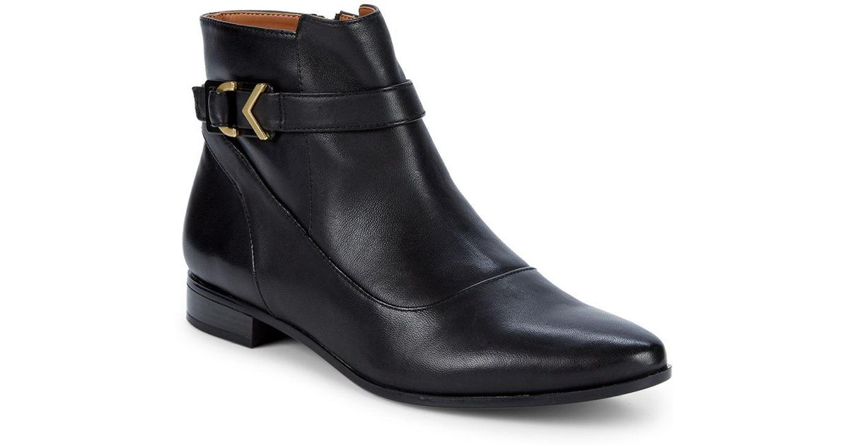 bf9ff132a3647 Calvin Klein Black Farryn Buckle Ankle Booties