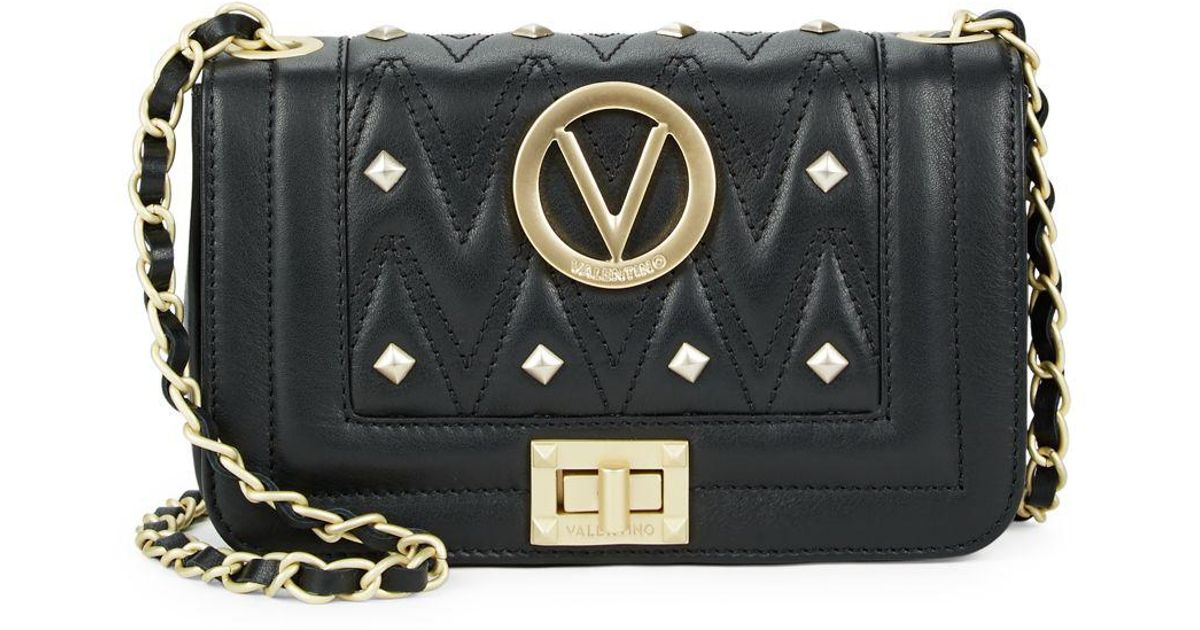 413f7c68db93c Lyst - Valentino By Mario Valentino Beatriz Studded Leather Crossbody Bag  in Black