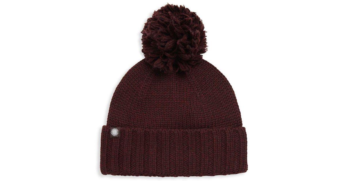 d48afbffde0 Lyst - UGG Pom-pom Knit Hat in Purple for Men