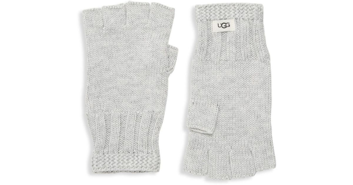 Ugg Synthetic Knit Fingerless Gloves In
