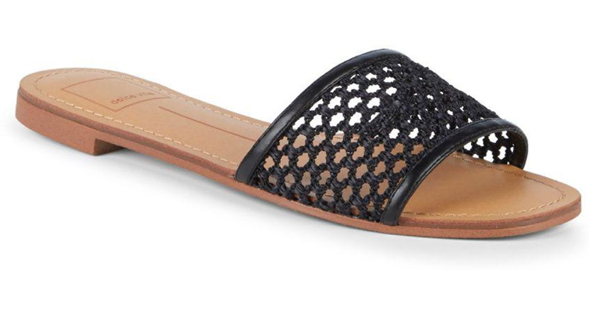ed5f0d98ae7 Lyst - Dolce Vita Pearl Woven Mesh Slides in Black - Save 26%