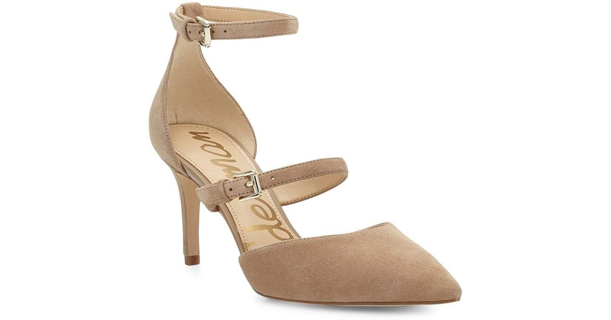 791c5bb95094 Lyst - Sam Edelman Thea Suede Point Toe Pumps in Natural
