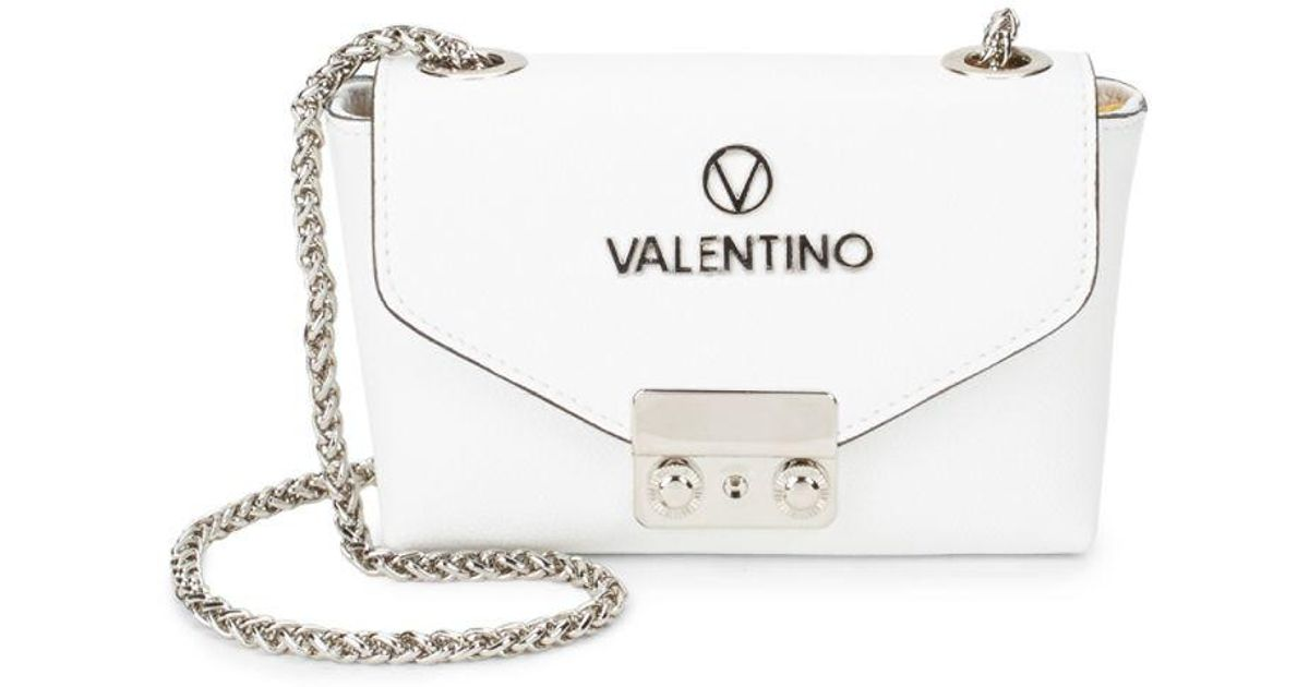 Valentino By Mario White Lola Leather Shoulder Bag