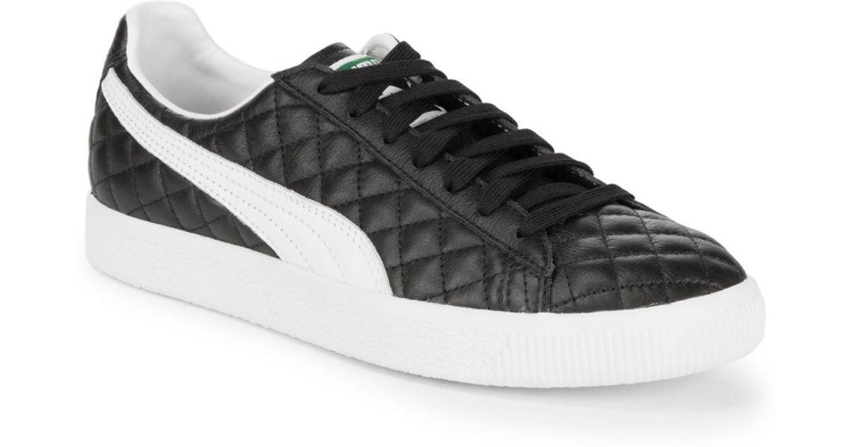 333b24de092926 Lyst - PUMA Clyde Dressed Leather Sneakers in Black for Men - Save 39%