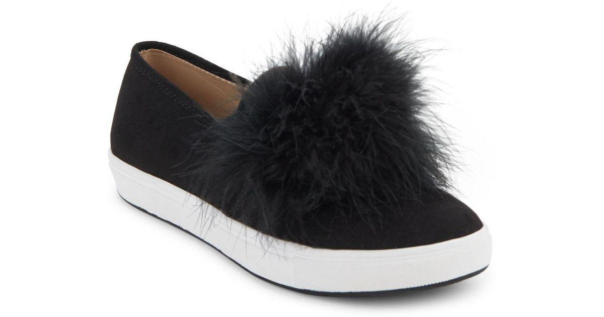 a26cc51e123 Lyst - Steve Madden Emily Pom Pom Sneakers in Black